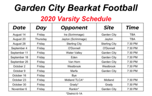 Official 2020 HS Football Schedule is Set!