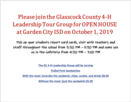 Open House 4-H leadership Group Information